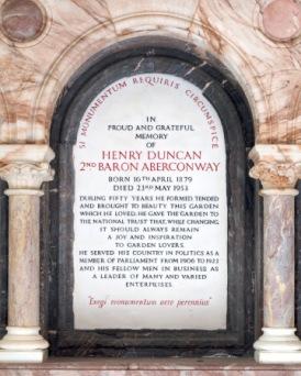 Memorial at Bodnant Gardens